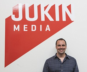 Control Issues: Cameron Saless at the Culver City headquarters of viral video firm Jukin Media.