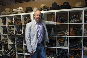 Best Foot Forward: CEO Andy Solomon at Sole Society's office in Culver City.