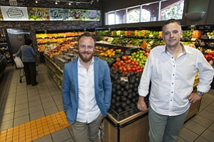 Shelf Life: Yuval Chiprut, left, and Tony Antoci at Erewhon Market's store in L.A.'s Fairfax District.