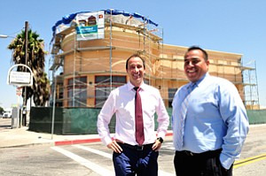 Buying In: Rosano Partners' Sagiv Rosano, left, and Josue Garcia at the AltaMed building in Huntington Park.