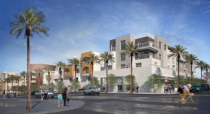 Alliance Residential's proposed apartments. – Rendering courtesy of CBRE Group Inc.