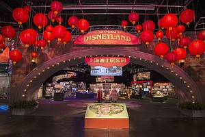 Heading Overseas: Display for Shanghai theme park at D23 Expo in Anaheim.