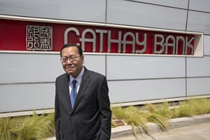 Cross-Country: Heng Chen at Cathay General Bancorp's outpost in El Monte.