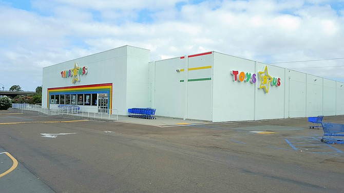 Properties acquired by Dan Floit include this San Diego building on Morena Boulevard, housing Toys 'R' Us. -- Photo courtesy of CBRE Group Inc.