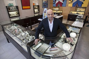 Counterproductive?: Yossi Dina at Beverly Hills' Dina Collection pawnshop in March 2014.