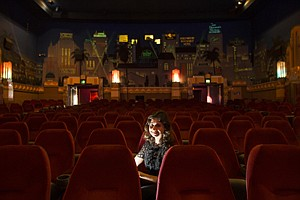 Next Stage: Louise 'Weezie' Melancon inside Westwood's Crest movie theater, which is a city of L.A. historic landmark.