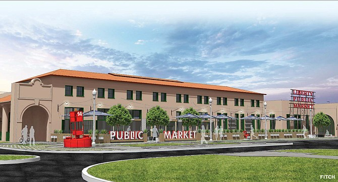 Liberty Public Market -- Rendering courtesy of Blue Bridge Hospitality