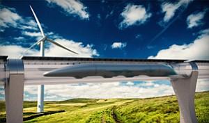Tracking Interest: Rendering of Hyperloop Transportation Technologies' project.