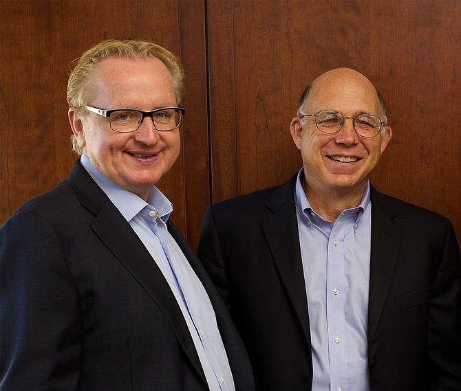 TSRI appointed Peter G. Schultz (right) as CEO and Steve A. Kay as president. -- Photo courtesy of TSRI
