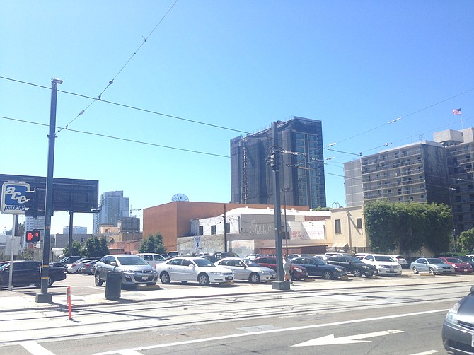 Two contiguous land parcels in downtown San Diego's East Village -- Photo courtesy of Colliers International