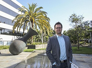 Venturing In: Managing Director Tim Barnes at Hercules Technology Growth Capital's new outpost in Santa Monica.