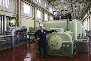 Dialed Back: Stephen O'Kane at AES Southland Development's power plant in Redondo Beach.