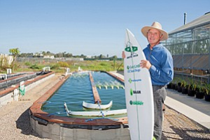 Stephen Mayfield, of the California Center for Algae Biotechnology at the University of California, San Diego was looking for a formula for a more sustainable surfboard. During the search he found a partner and a product.