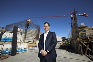 Mixing It Up: Gabe Kadosh at AvalonBay's West Hollywood mixed-use development, where he will handle retail leasing.