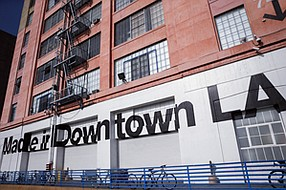 Coming Apart it Seems: Exterior of American Apparel's downtown L.A. HQ, which touts firm's made-in-America policy.