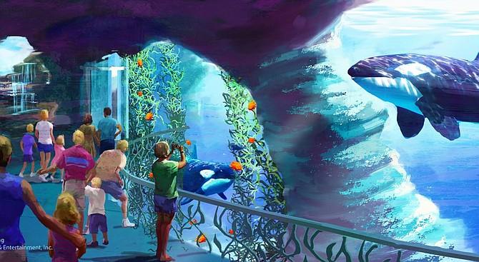 Seaworld's planned Blue World -- Rendering courtesy of SeaWorld San Diego
