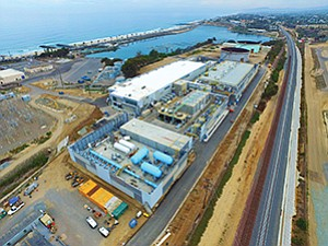 Photo courtesy of Poseidon Water The $1 billion desalination plant in Carlsbad is the largest desalination plant in the Western Hemisphere. It will eventually provide 7 percent of San Diego County's water.
