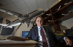 Taking Off: Bob Siegel at O'Melveny & Myers office in downtown Los Angeles, where he leads the firm's new aviation group.
