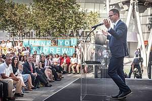Local Impact: Hauptman at City Year event this year at downtown's L.A. Live.