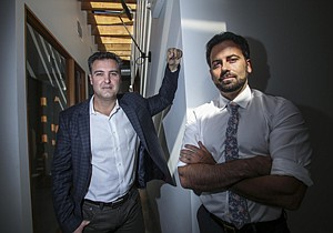 In Fashion: Attorneys Stephen Doniger, left, and Scott Burroughs at their eponymous firm in Venice.