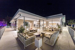 High-End Attraction: Private rooftop shopping room at Louis Vuitton's Rodeo Drive flagship store in Beverly Hills.