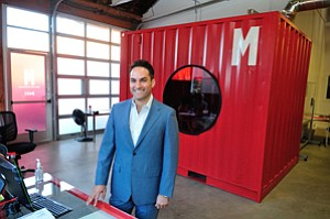 Outside Box: Adam Bierman at the Culver City headquarters of pot industry-focused business advisory firm MedMen.
