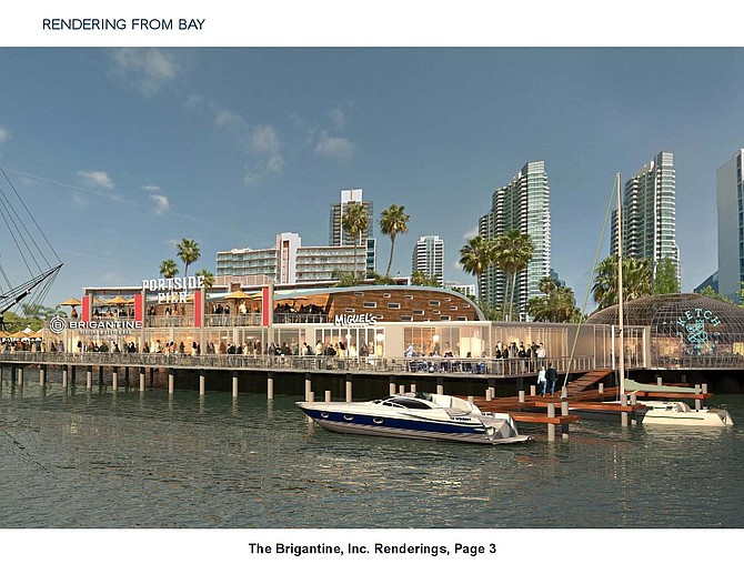 Brigantine Inc.'s proposed Portside Pier –- Rendering courtesy of Unified Port of San Diego