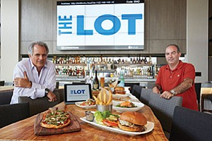 Adolfo Fastlicht (left) is owner and CEO and Carlos Wellman is managing director of locally based Boffo Cinemas, which recently opened The Lot Lolla. They have a similar movie theater/restaurant venue planned for Liberty Station in Point Loma.