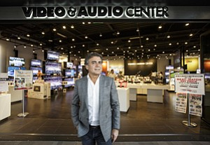 Electrified: Joseph Akhtarzad in the new Video & Audio Center.