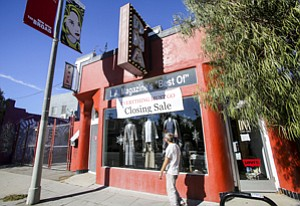 Folding Up: DNA Clothing on Rose Avenue in Venice, where owners say rents have tripled.