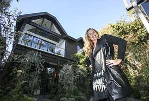 Shored Up: Kim Gordon at 911 Nowita Place, bought for $1 million and selling for $4 million.