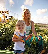Cassandra Curtis, mother of two, co-founded Once Upon a Farm out of her personal frustration concerning the lack of convenient and healthy baby food at the supermarket. Photo courtesy of Once Upon a Farm