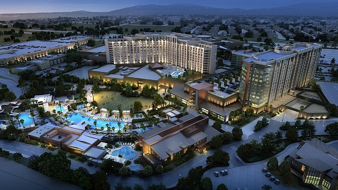 A rendering of the planned $285 million expansion of the Pechanga resort -- Rendering courtesy of Pechanga Band of Luiseño Indians