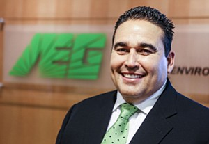 Ruben Garcia at Long Beach office of Advanced Cleanup Technologies.