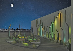 Rendering courtesy of Unified Port of San Diego 'Kelp' is among the public art sculptures approved for display along Harbor Drive.