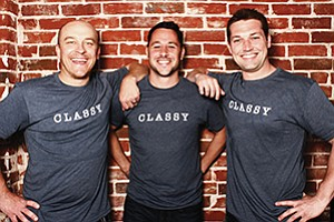 Photo courtesy of Classy Classy's co-founders are Marshall Peden, left, Scot Chisholm and Pat Walsh.