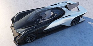 'Batmobile': Faraday's electric concept car unveiled at the Consumer Electronics Show.
