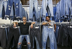 Vintage Feel: Sean Barron, left, and Jamie Mazur at denim label Re/Done.