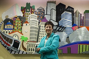 Front, Center: Downtown L.A. booster Carol Schatz sees area's strides as opportunity to step back.