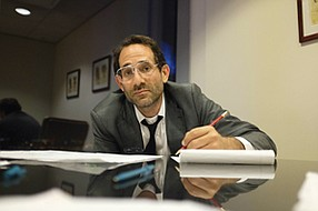 Reflecting on Career: American Apparel founder and former Chief Executive Dov Charney on June 18, 2014, his last day in charge of the downtown L.A. clothing maker.
