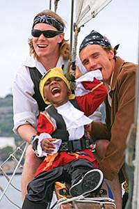 Areice, 5, who is battling cancer, got his wish to be a pirate granted by Make-A-Wish San Diego.