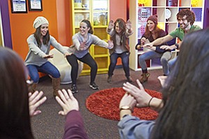 Employees at Sonic Boom Wellness practice what they preach at the company's Carlsbad office.