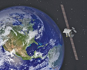 The ViaSat-2 satellite being built by Boeing is on schedule to launch this time next year. Rendering courtesy of Boeing Co.