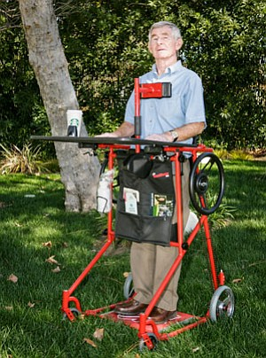 Brian Nestor's invention allows wheelchair patients to stay upright.