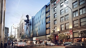 Group Effort: Rendering of Gilmore Associates' Main Museum of Los Angeles Art, which will involve several buildings in downtown L.A.'s Old Bank District.