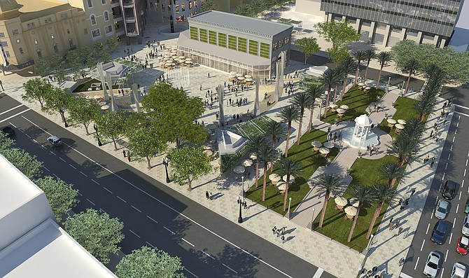 Horton Plaza Park -- Rendering courtesy of Westfield Corp.