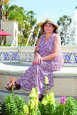 Vicki Estrada designed the landscaping around the new fountain at the Plaza de Panama at Balboa Park.