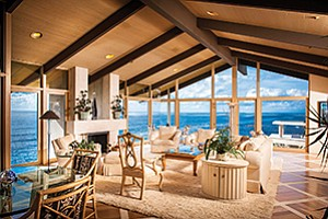 The view from the living room of a home at 6266 Camino De La Costa in La Jolla.  Above: The exterior view of a home at 6266 Camino De La Costa in La Jolla that sold for $14.3 million in 2015. Photos courtesy of Paul Body Photography