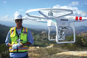 NWB's UAV (unmanned aerial vehicle) program can be used for a variety of missions, including thermal imaging, high-resolution mapping, 3-D modeling and photogrammetry. Photo courtesy of NWB Environmental Services LLC