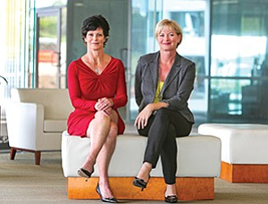 Maggie Osburn and Elizabeth Hewitt Gibson of HUB International Insurance Services Inc. say more companies are offering customizable benefits to attract and retain talent.